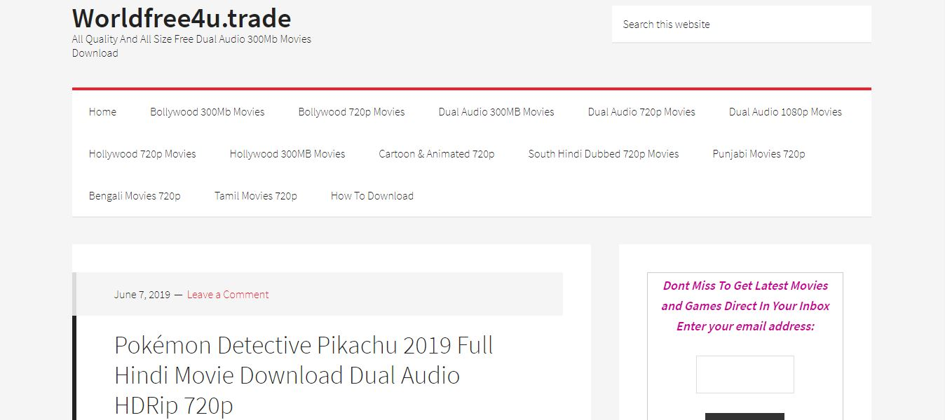 WorldFree4U - All Quality And All Size Free Dual Audio 300Mb Movies Download