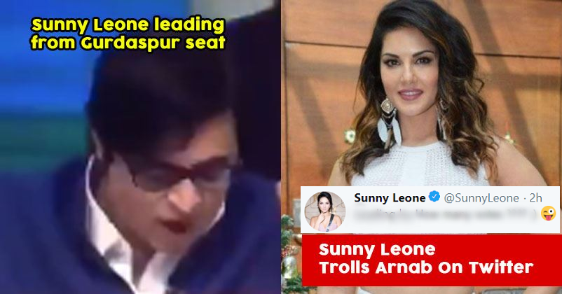 Sunny Leone Trolls Arnab Goswami For His Goof Up On National TV