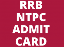 RRB NTPC 2020 Admit Card: When Will it Be Out?