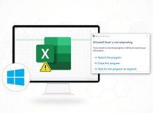 Microsoft Excel 2016 not responding Windows 10