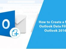 How to Create a New Outlook Data File in Outlook 2016