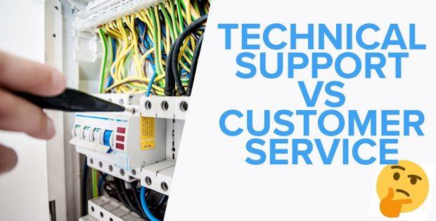 Technical Support vs Customer Service